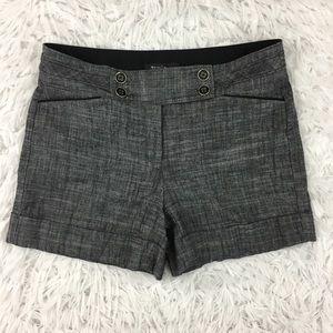 WHBM Gray Linen Blend Dress Shorts